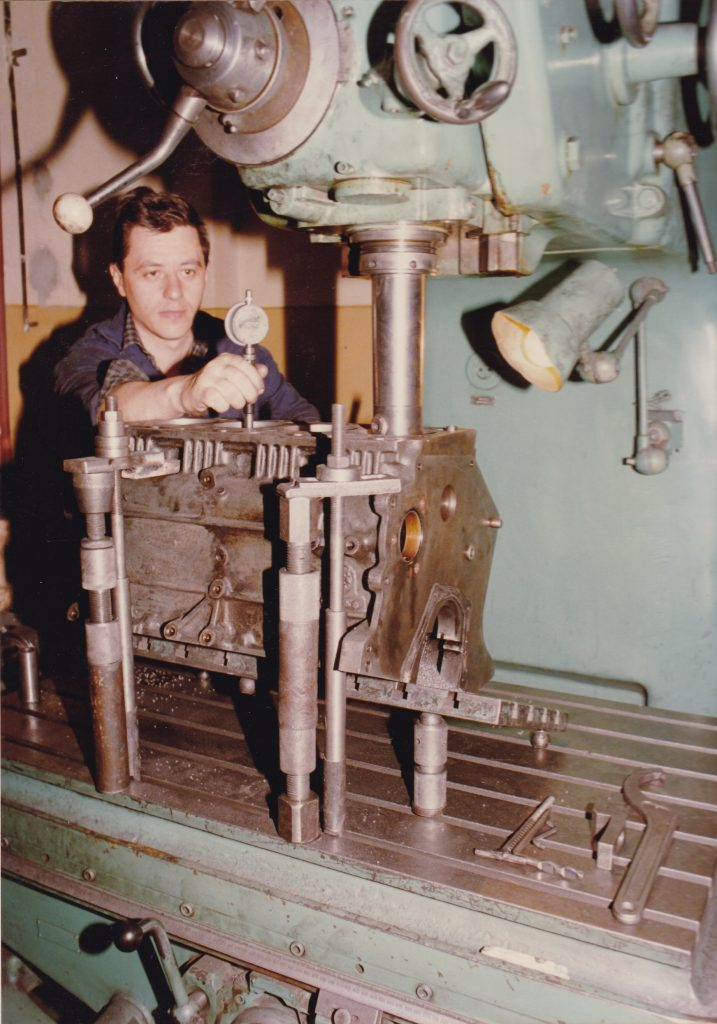Working on a engine